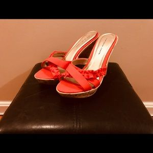 Shoes - Red/Orange Wedge💥 New no tags